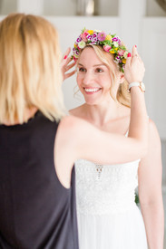 Braut Styling - Flower Crown