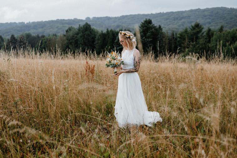 Braut - Brautstrauß & Flowercrown