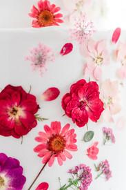 Hochzeitstorte - Blütenblätter