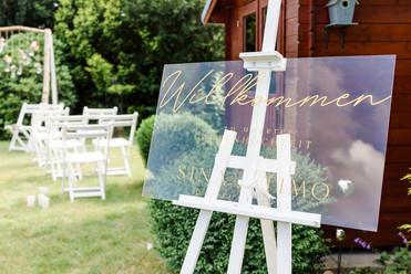 Herzlich Willkommen - Gartenhochzeit - Micro Wedding