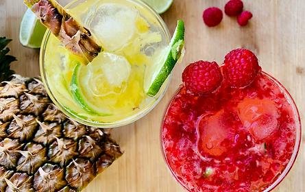 Mocktail de Abacaxi e Framboesas