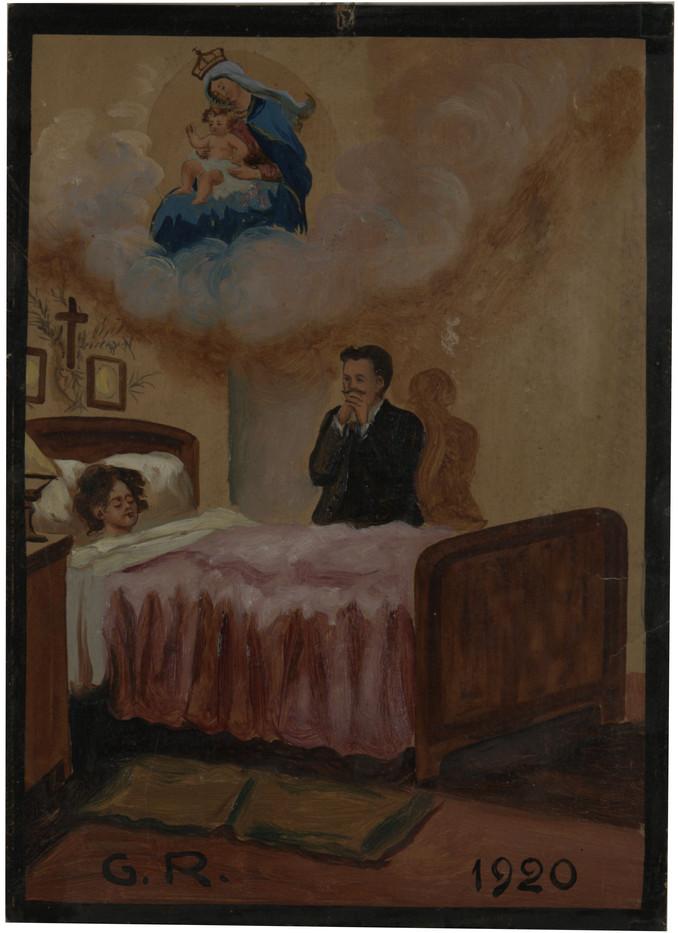 1920, Italia, olio su tavola. Fondazione P.G.R.
