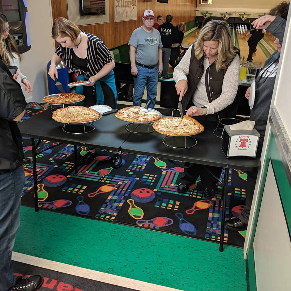 Pizza at the lanes