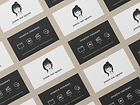 Portrait Logo Business Card Mockup Versi