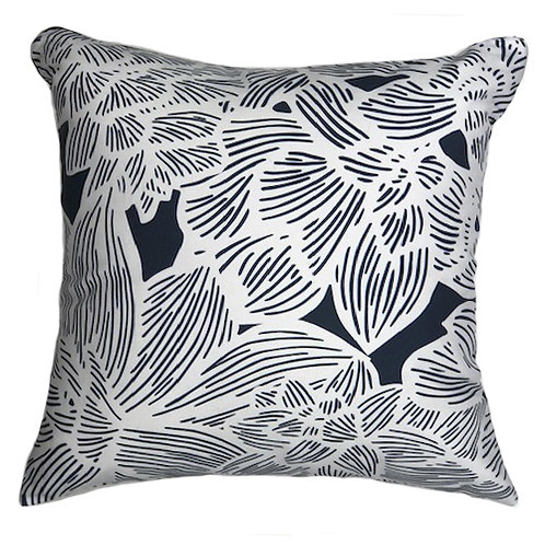 MADDY PILLOW 1 -WHITE ON NAVY