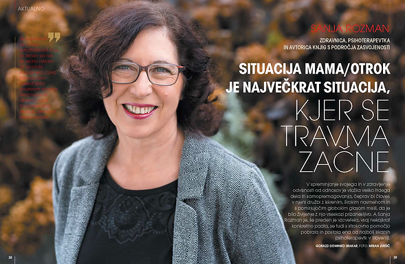 Sanja rozman, revija Obrazi december 202