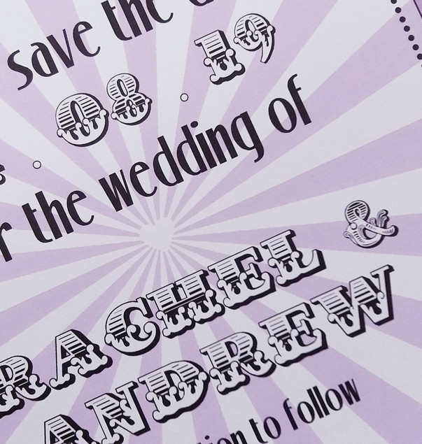 BIG TOP - save the date detail