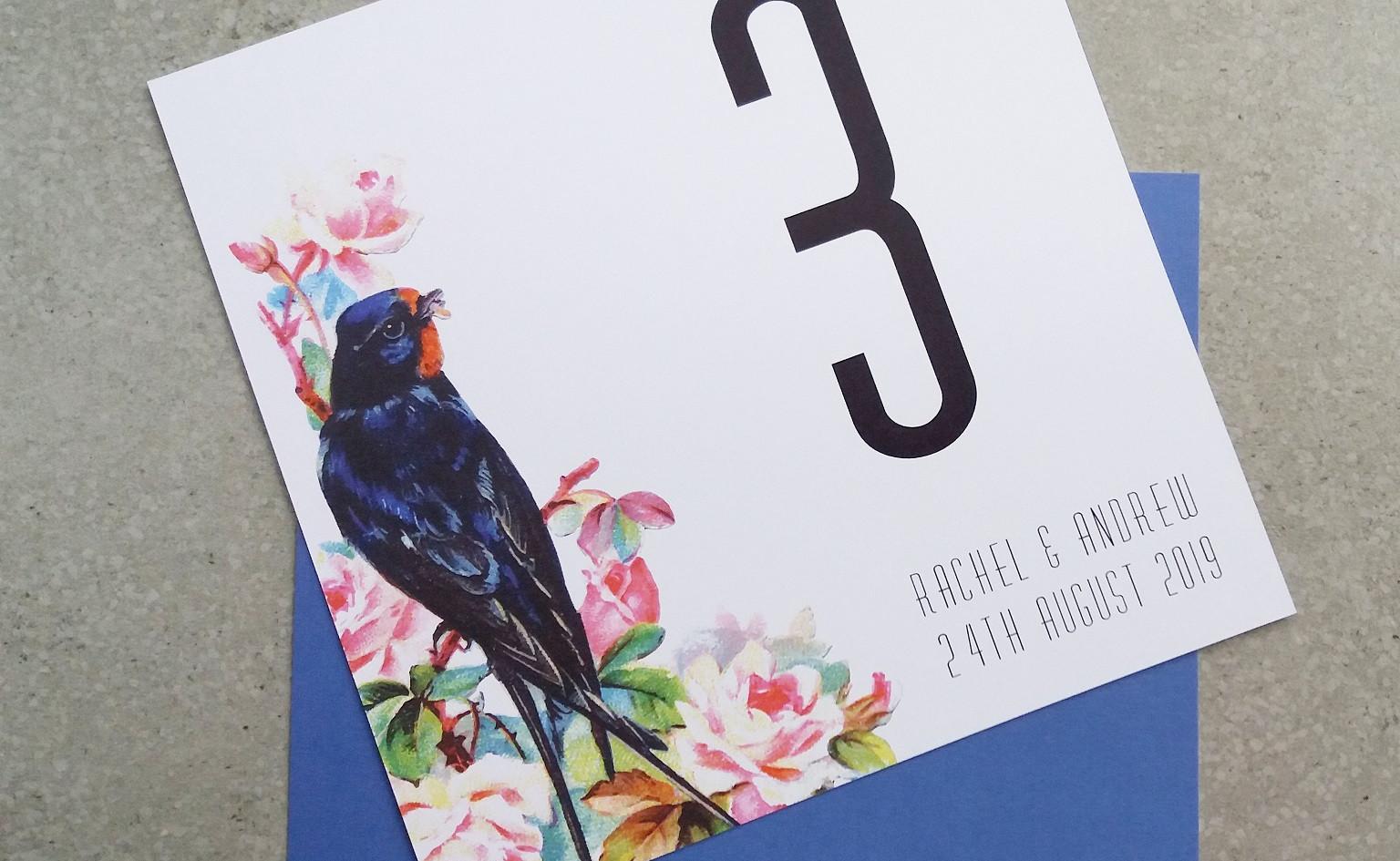 TWEET - table number