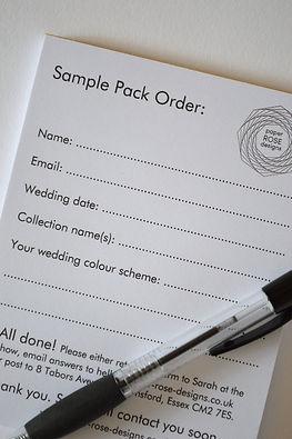 paper ROSE designs wedding stationery sample pack