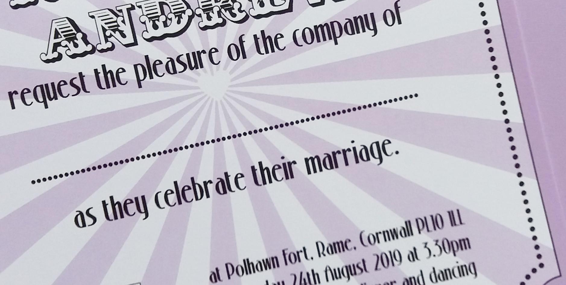 BIG TOP - invitation detail
