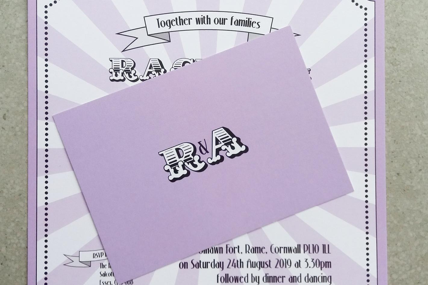BIG TOP - rsvp and invitation