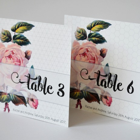 GEO ROSE - table numbers