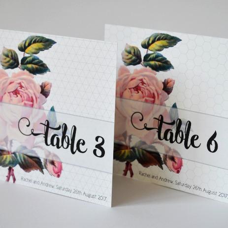 GEO ROSE - table numbers