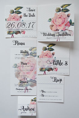 paper ROSE designs wedding stationery. The GEO ROSE collection