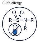 sulfa allergy icon