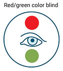 red/green color blind icon