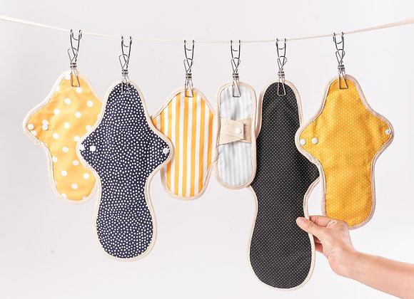 Loulou cloth pads set (6 pieces)
