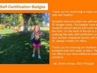 New Self-Certification Badges