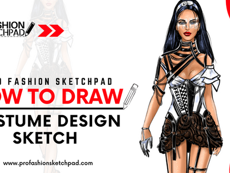How To Draw Stage Costume Design Sketch with PRO FASHION SKETCHPAD book series