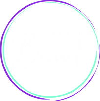 Blissful Beauty logo - white font with p