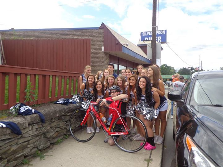 With the Abington Heights Cheerleaders