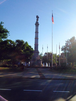 The Civil War Monument in the heart of the square