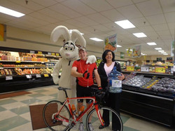 With Sandy and Trix at Pittston Quinn's Market