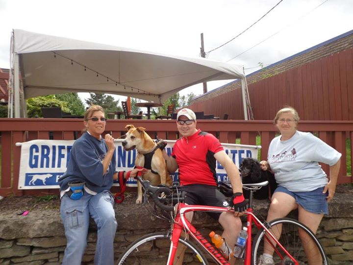 With the fine folks from Griffin Pond who met up with me along the bike route