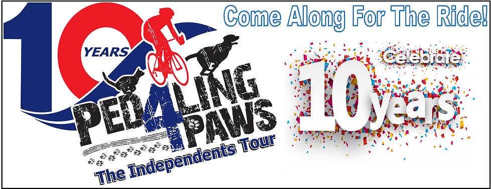 celebrating 10 yearsm pedaling 4 paws.pn