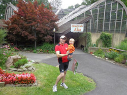 Ethan and I infront of the Tigers of Asia at the Ross Park Zoo