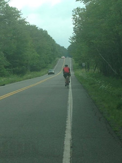 Riding through Waymart