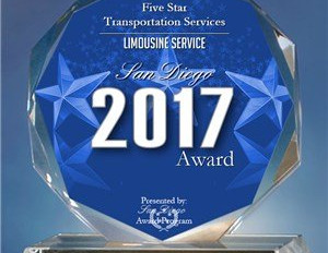 Awarded BEST limousine service in San Diego - 2017