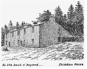 Wainwright's depiction of Skiddaw House