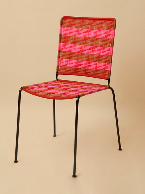 CHAISE DROITE - ZOE / ROUGE / ROUILLE / ROSE