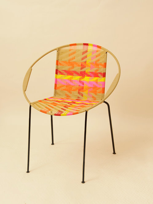 CHAISE RONDE - KODJOE BEIGE / ORANGE / ROUGE / JAUNE / ROSE
