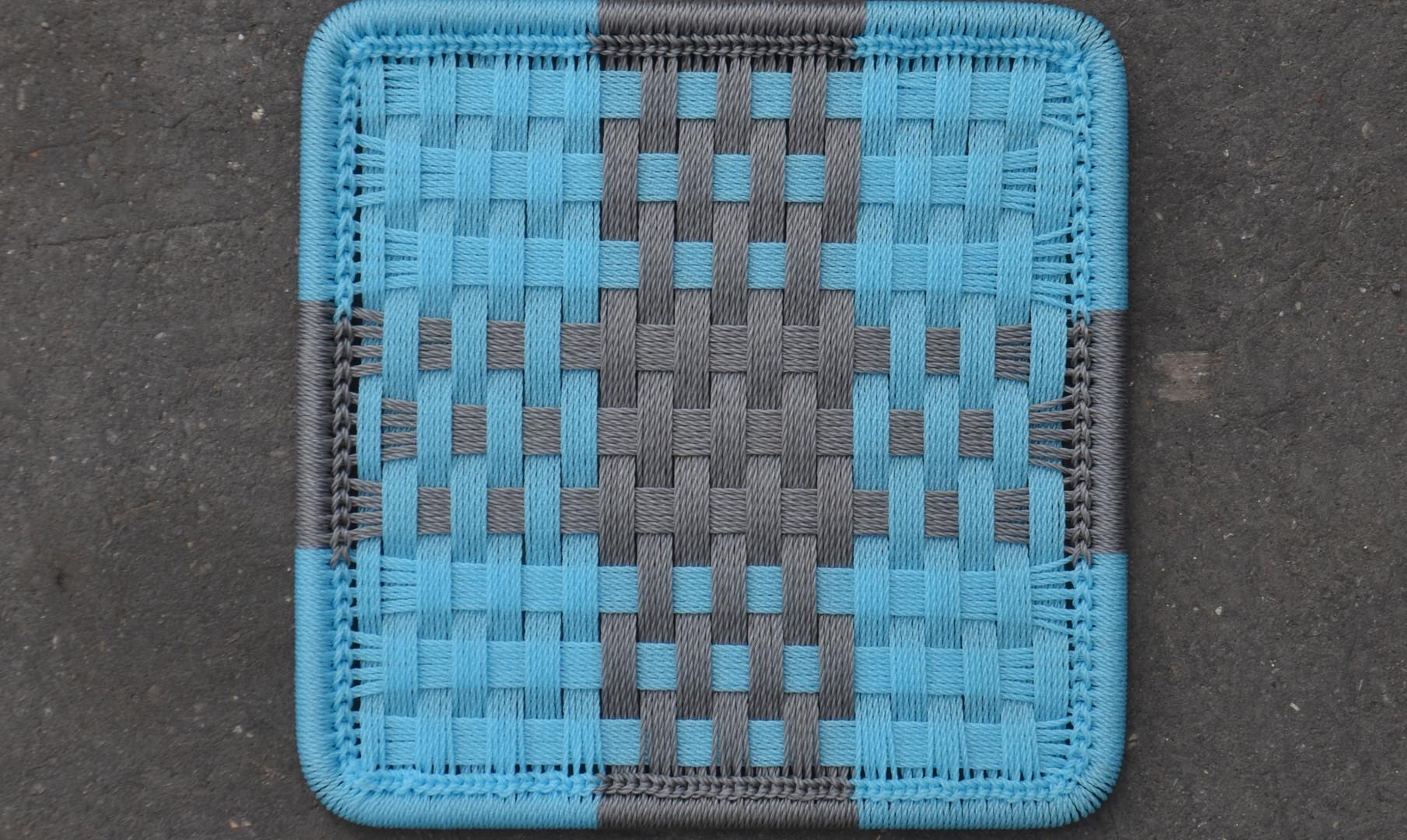 Turquoise / gris foncé
