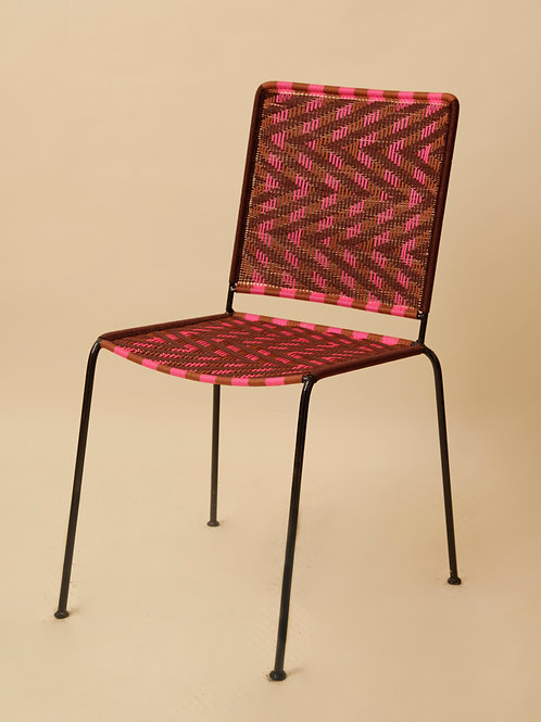 CHAISE DROITE - ZZ MARRON / ROUILLE / ROSE