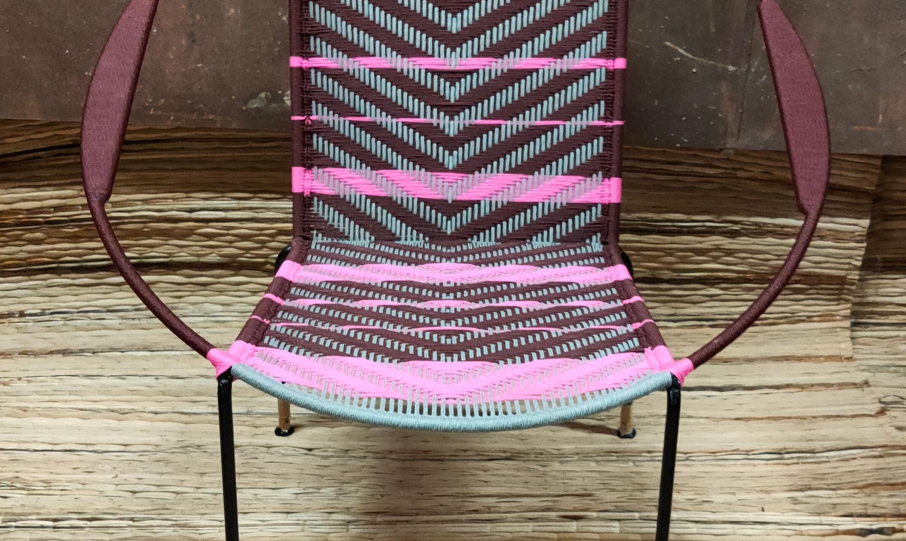 Marron / gris clair / bandes rose