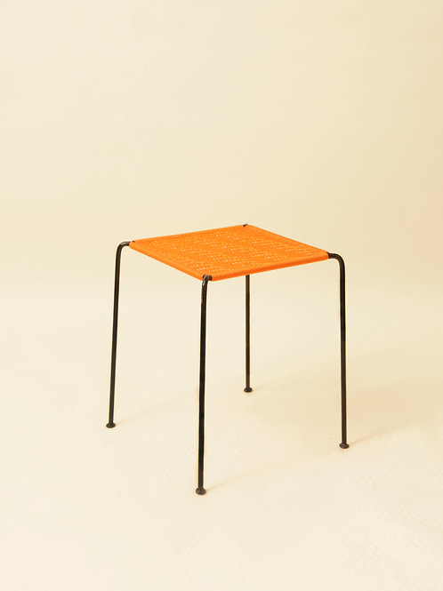 TABOURET CARRÉ - ZOÉ ORANGE UNI