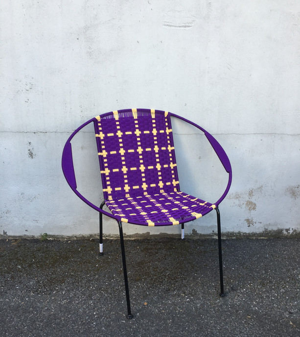 Violet / crème