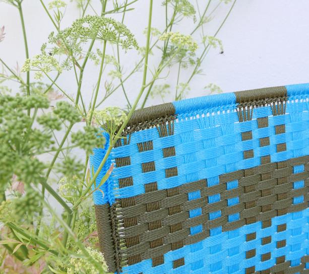 Kaki clair / turquoise