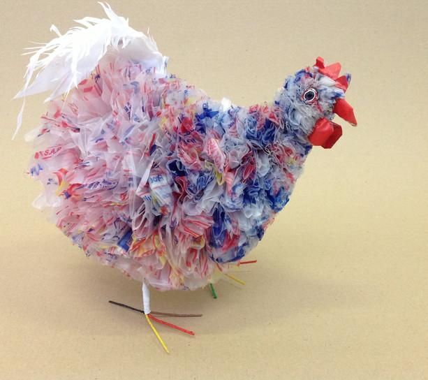 poules en plastiques recyclés