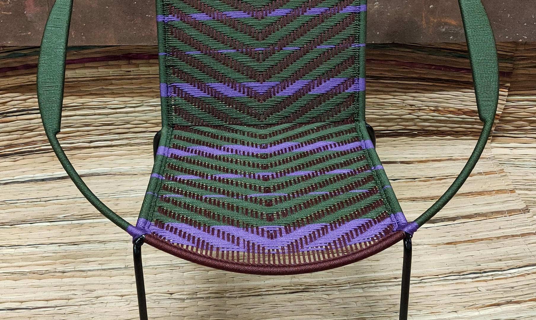Kaki / marron / bandes violet