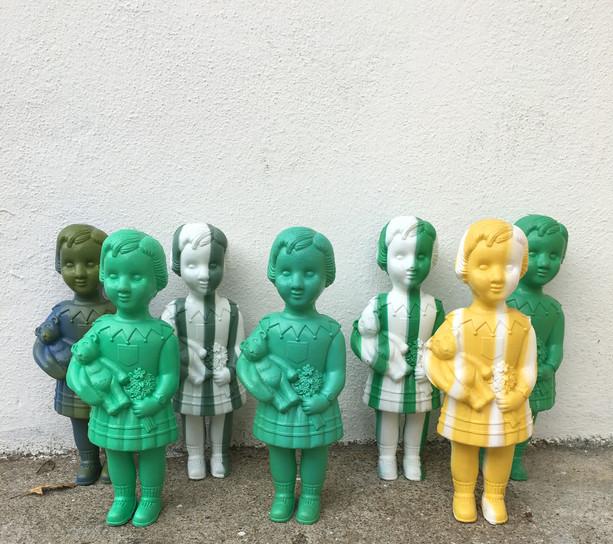 poupées L du Ghana