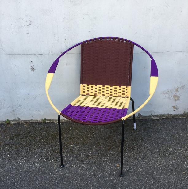 Marron / crème / violet