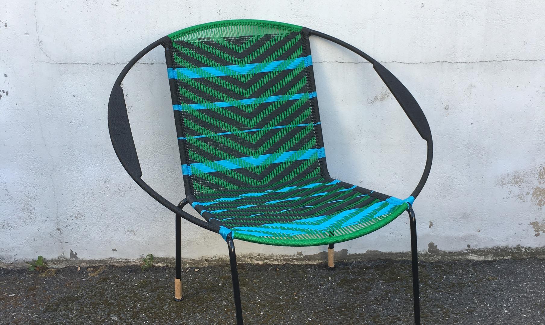 Noir / vert / bandes turquoise