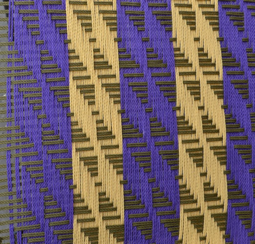 Kaki clair / violet / crème
