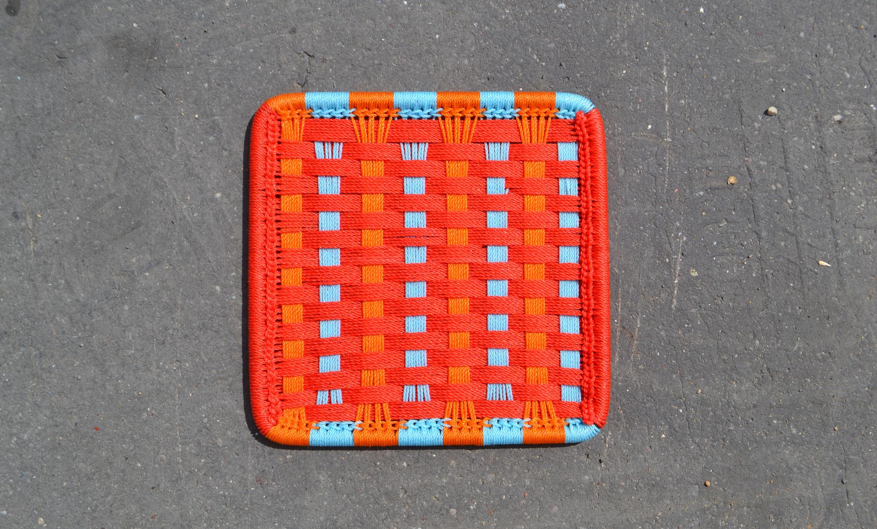 Rouge / orange / turquoise