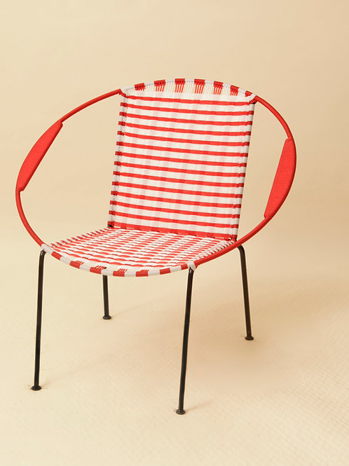 FAUTEUIL ADULTE - RAYURES ROUGE / BLANC
