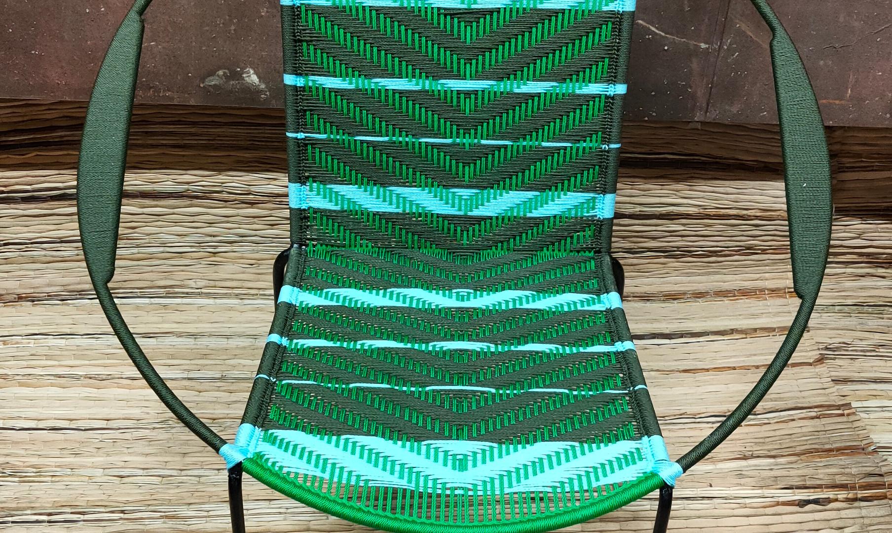 Kaki / vert / bandes turquoise